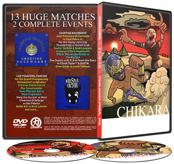 DVD and Blu-Ray Releases | CHIKARA Pro